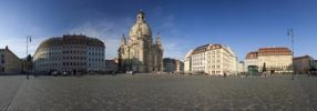 Thumbnail Evening mood in the town centre of Dresden with Frauenkirche, Church of Our Lady, Saxony, Germany, Europe, PublicGround