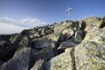 Thumbnail Summit cross of Mt Lusen, Bavarian Forest, Bavaria, Germany, Europe