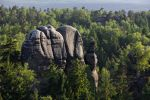 Thumbnail Waldfelsen rocks from Carola rocks near the Affensteine rocks, Elbe Sandstone Mountains, Saxony, Germany, Europe