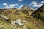 Thumbnail View of Mt Wildgrubenspitze at Spullersee Lake in Vorarlberg, Austria, Europe /