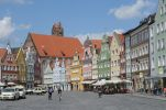 Thumbnail Row of medieval houses in Landshut, Bavaria, Germany, Europe
