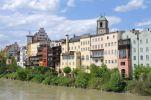 Thumbnail Row of houses alongside the river, Wasserburg am Inn, Bavaria, Germany, Europe