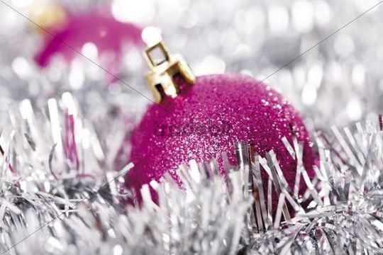 Red Glitter Christmas Tree Decorations : Pink glitter christmas tree balls with
