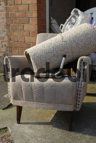 old arm chairs with bulk rubbish