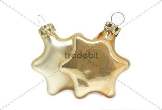Two Christmas stars, Christmas tree decoration