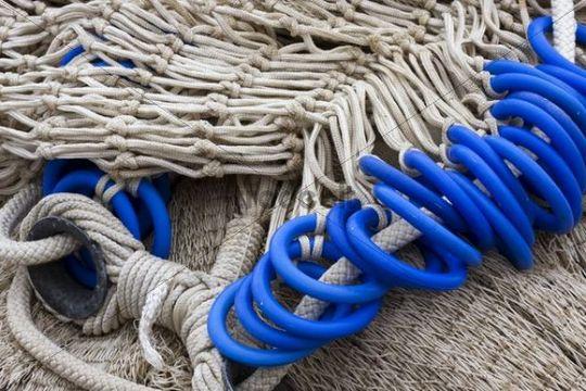 Fishing net, Marano Lagunare, Venice, Italy, Europe