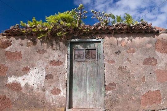 Deserted house in La Tosca, La Palma, Canary Islands, Spain, Europe