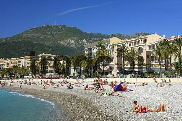 On the beach Menton Cte dAzur France