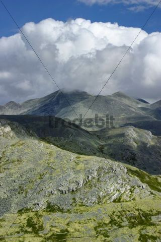 Landscape, cloud formation, in Rondane National Park, Norway, Scandinavia, Northern Europe