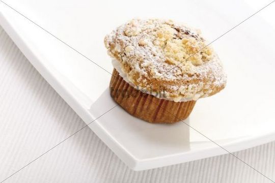 Christmas muffin on a white plate