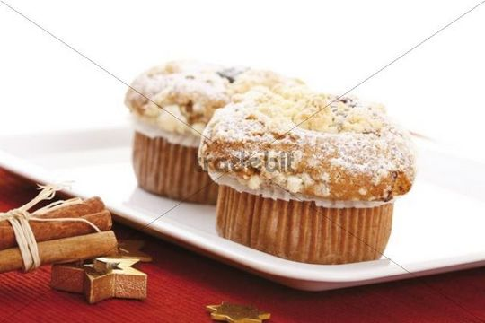 Christmas muffins and Christmas decorations