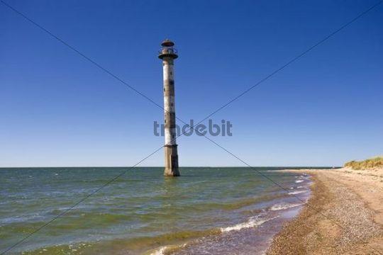 Kippsaare lighthouse, Harielaide peninsula, Vilsandi National Park, Saaremaa, island in the Baltic Sea, Estonia, Baltic states, Northeastern Europe