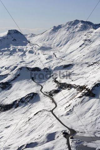 Grossglockner High Alpine Road, Mt. Fuscherlacke, Mitterertoerl and Hochtor, Margroetzen, view from Edelweissspitze, Hohe Tauern National Park, Salzburg, Austria, Europe