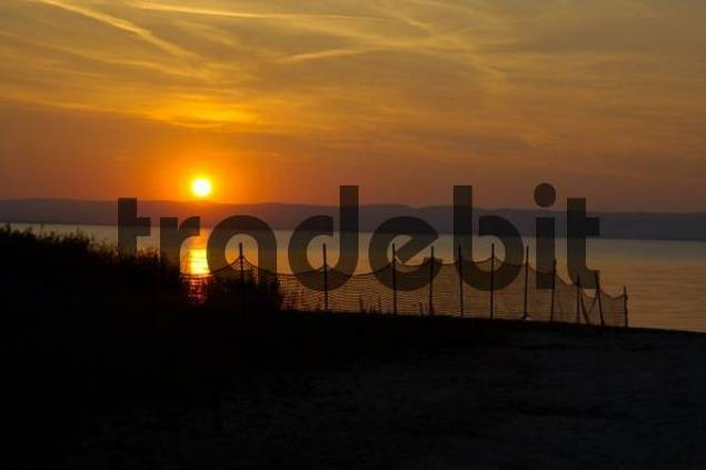 Sundown at Podersdorf Neusiedler See Burgenland Austria