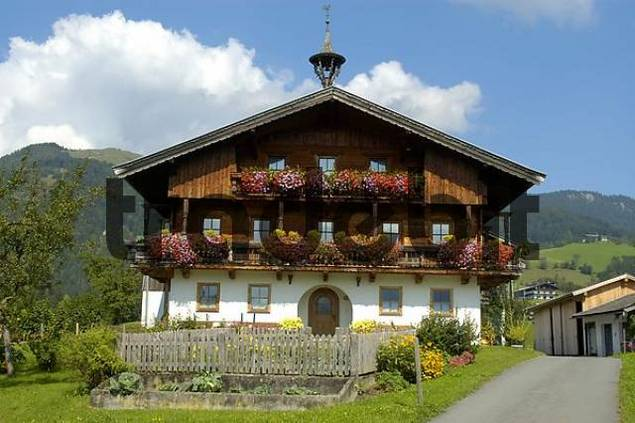 traditional colourful decorated farmers house in koessen