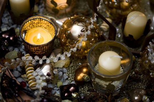 Festive decoration with candles