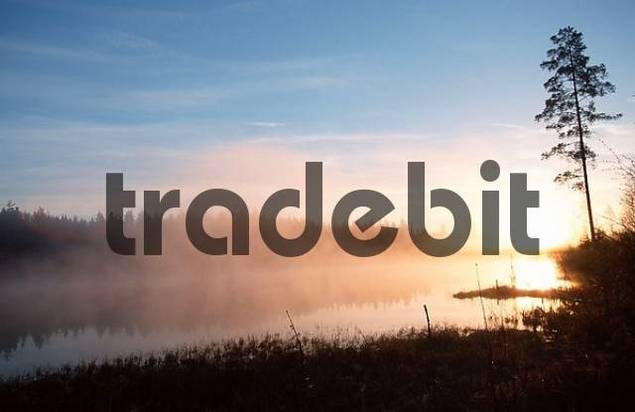 Sunrise at lake, Sweden