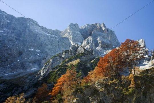 Rohntalboden in autumn, Eng, Tyrol, Austria, Europe