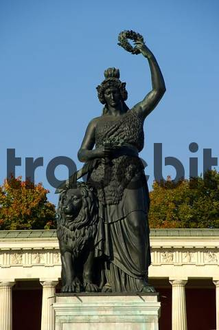 Statue of Bavaria Theresienwiese Munich Bavaria Germany