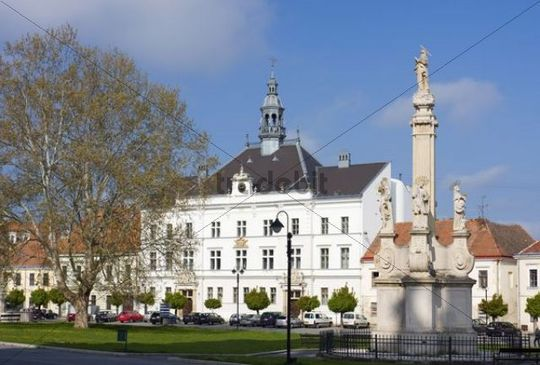 Town hall in Valtice, Breclav district, South Moravia, Czech Republic, Europe