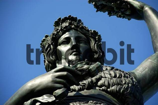 Portrait statue of Bavaria nearby Theresienwiese Munich Bavaria Germany