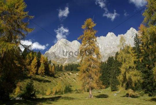 Mountain landscape in autumn, Berchtesgaden Alps, Hochkoenig Mountain, Salzburg, Austria, Europe