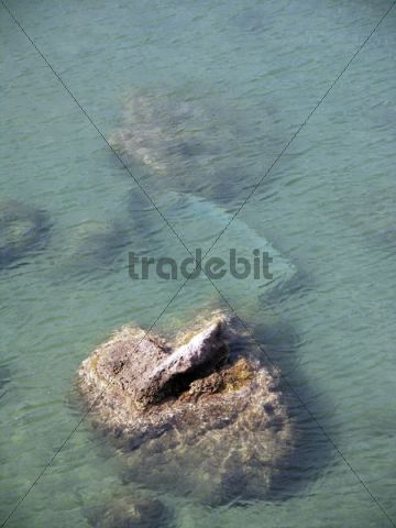 Sunken rowboat at Ventotene, Pontine Islands, Latium, Lazio, Italy, Europe