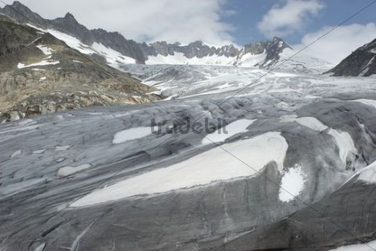 Rhone Glacier, Canton Valais, Switzerland, Europe