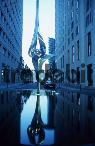 Inge-Beisheim Square with sculpture Phoenix, Potsdamer Platz, Berlin, Germany