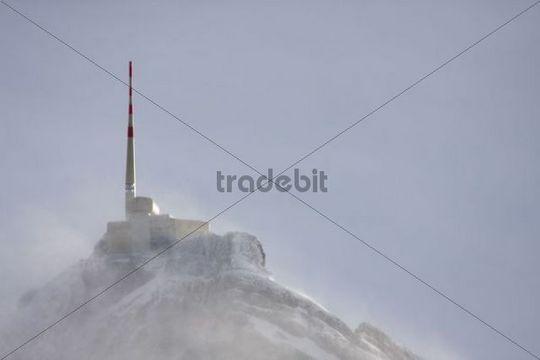 Summit of Mt Saentis, Canton of St Gallen, Switzerland, Europe