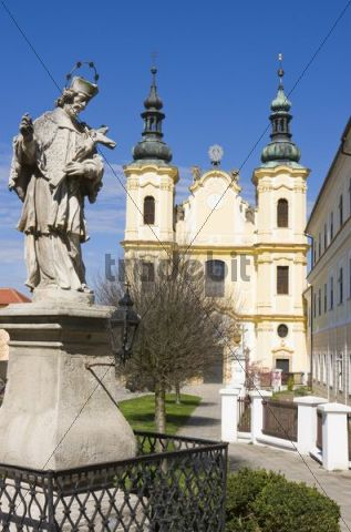 Church of Ascension of Virgin Mary in Straznice, Hodonin district, South Moravia, Czech Republic, Europe