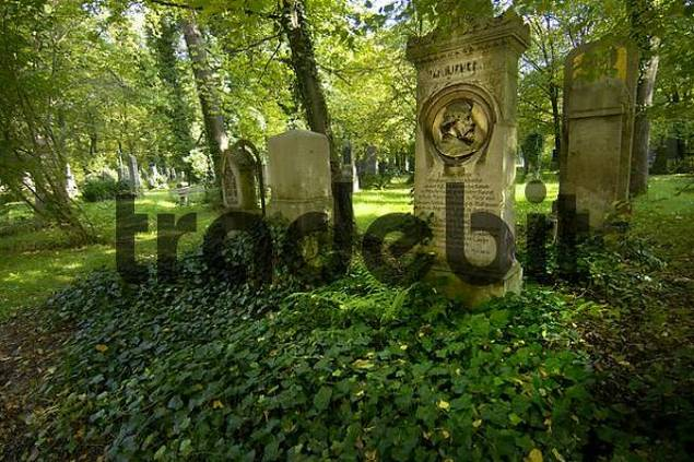 graves on the South Cemetary in Munich Bavaria Germany