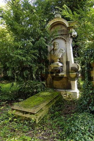 grave on the South Cemetary in Munich Bavaria Germany