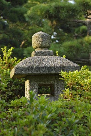 japanische steinlaterne japanischer garten botanischer garten kle. Black Bedroom Furniture Sets. Home Design Ideas