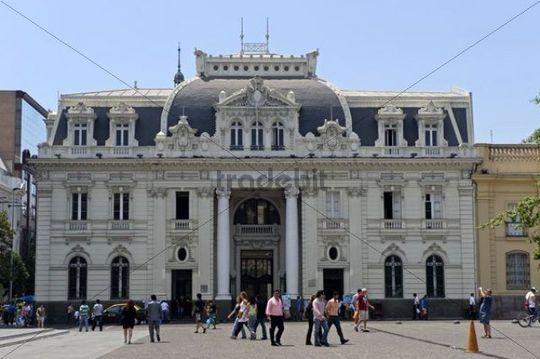 Main post, Correo Central, on Plaza de Armas Square, Santiago de Chile, Chile, South America