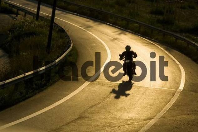 Biker on the street