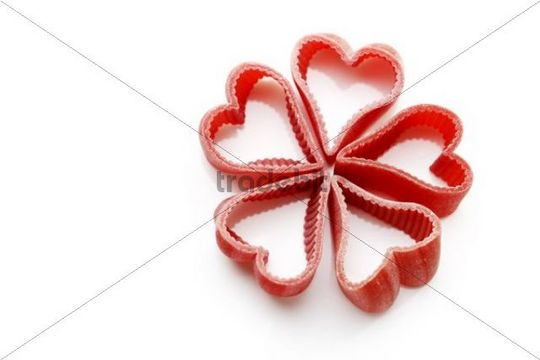Heart-shaped noodles
