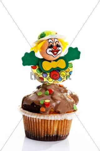Carnival figure on a muffin