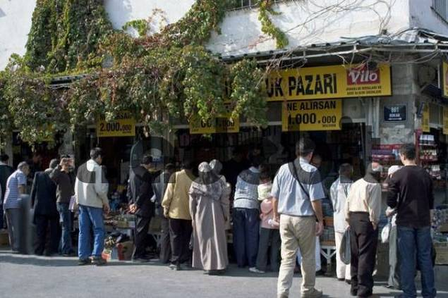 Turkey Izmir quarter Konak shop