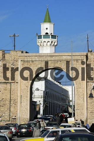 Main gate to the Medina old town of Tripoli, Libya
