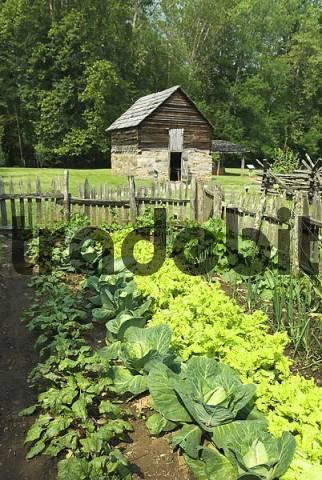Mountain Farm Museum, Smokey Mountains National Park, Tennessee, USA