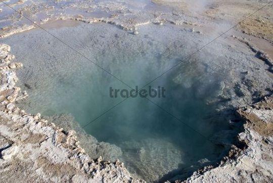 Geyser, Salar de Atacama, salt lake, Atacama Desert, Chile, South America