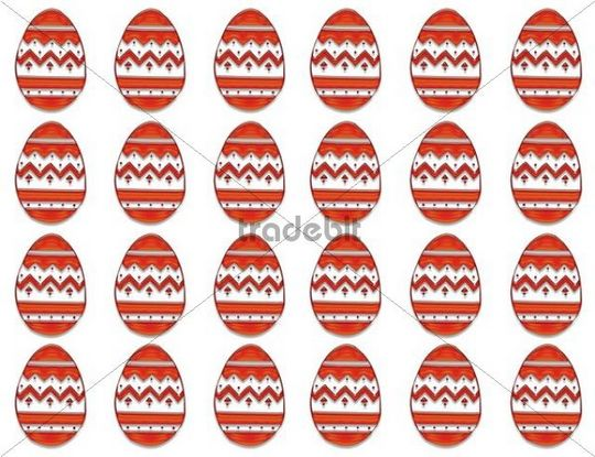 Easter eggs in a row, pattern, graphic