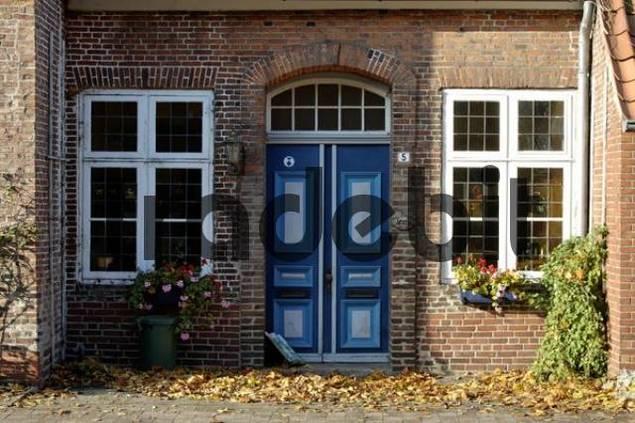 Brande Hoernerkirchen near Elmshorn Schleswig Holstein Deutschland entrance to a house