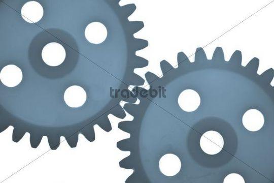 Plastic gear wheels, detail