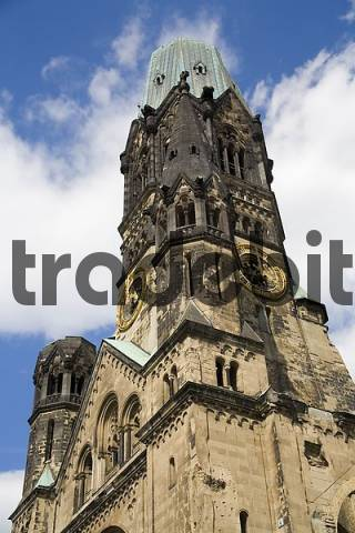 Kaiser-Wilhelm Memorial Church on Breitscheidplatz, Berlin, Germany, Europe