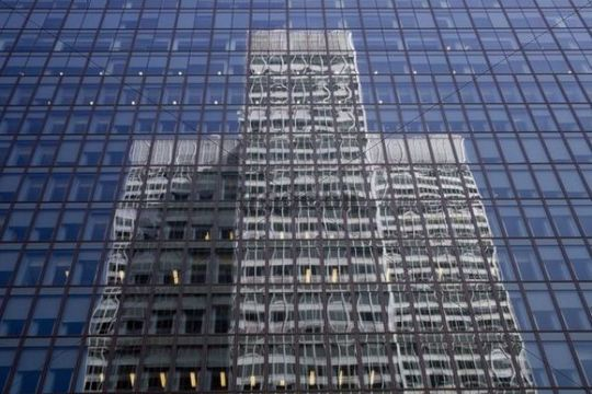 One building reflected in another, Montreal, Quebec, Canada