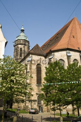Old town with church St. Mary, Pirna, Saxony, Germany