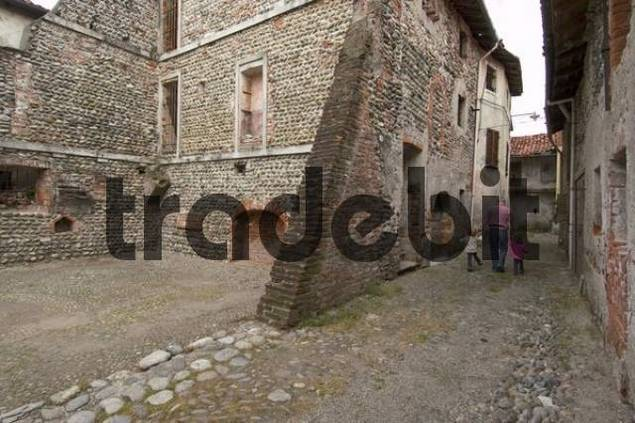 Carpignano Sesia near Novara Piedmont Piemonte Italy Ricetto historic village center place of refuge in the middle age