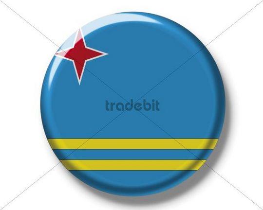Button, flag of Aruba